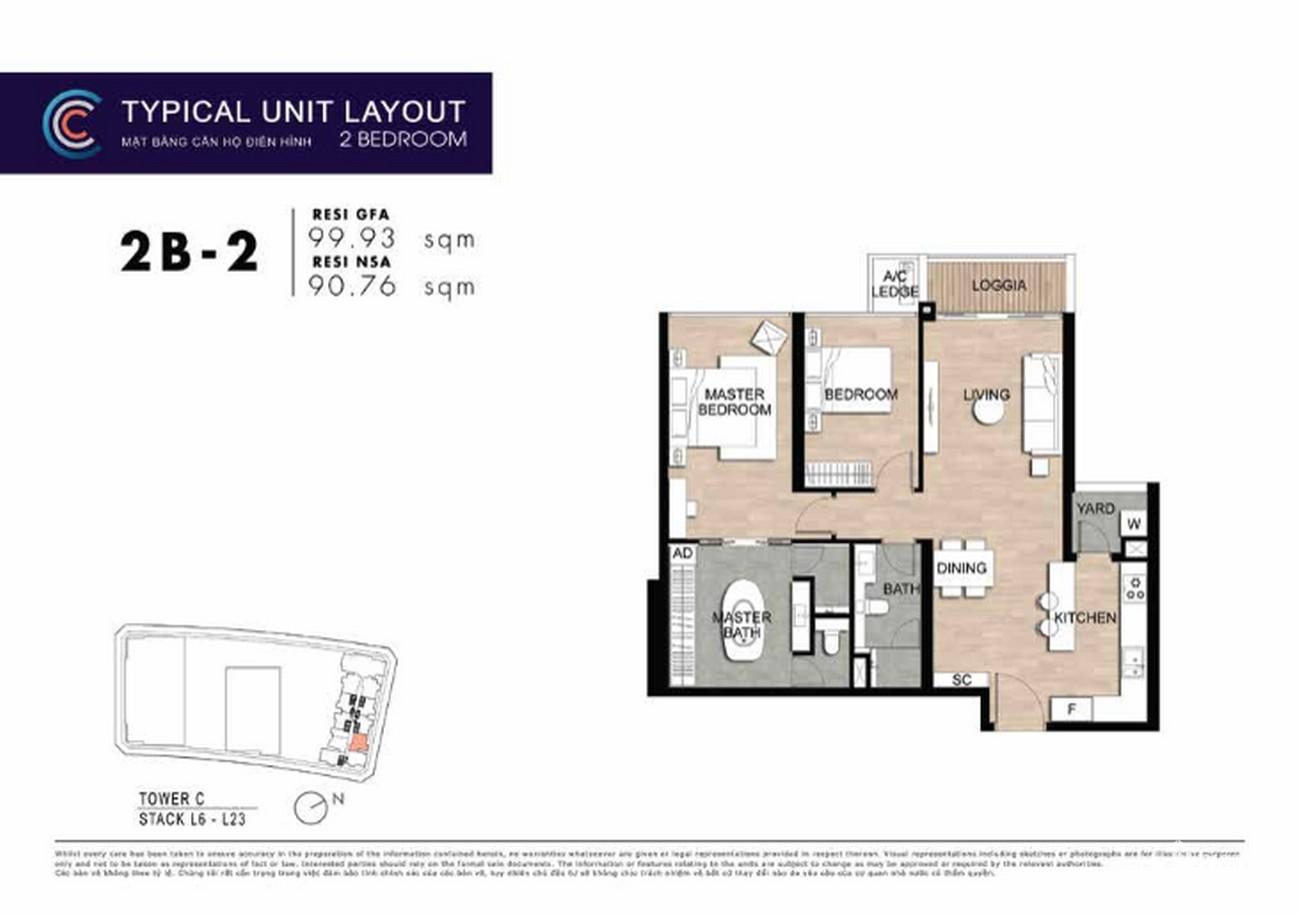 Thiết kế căn hộ 2PN 2B-2