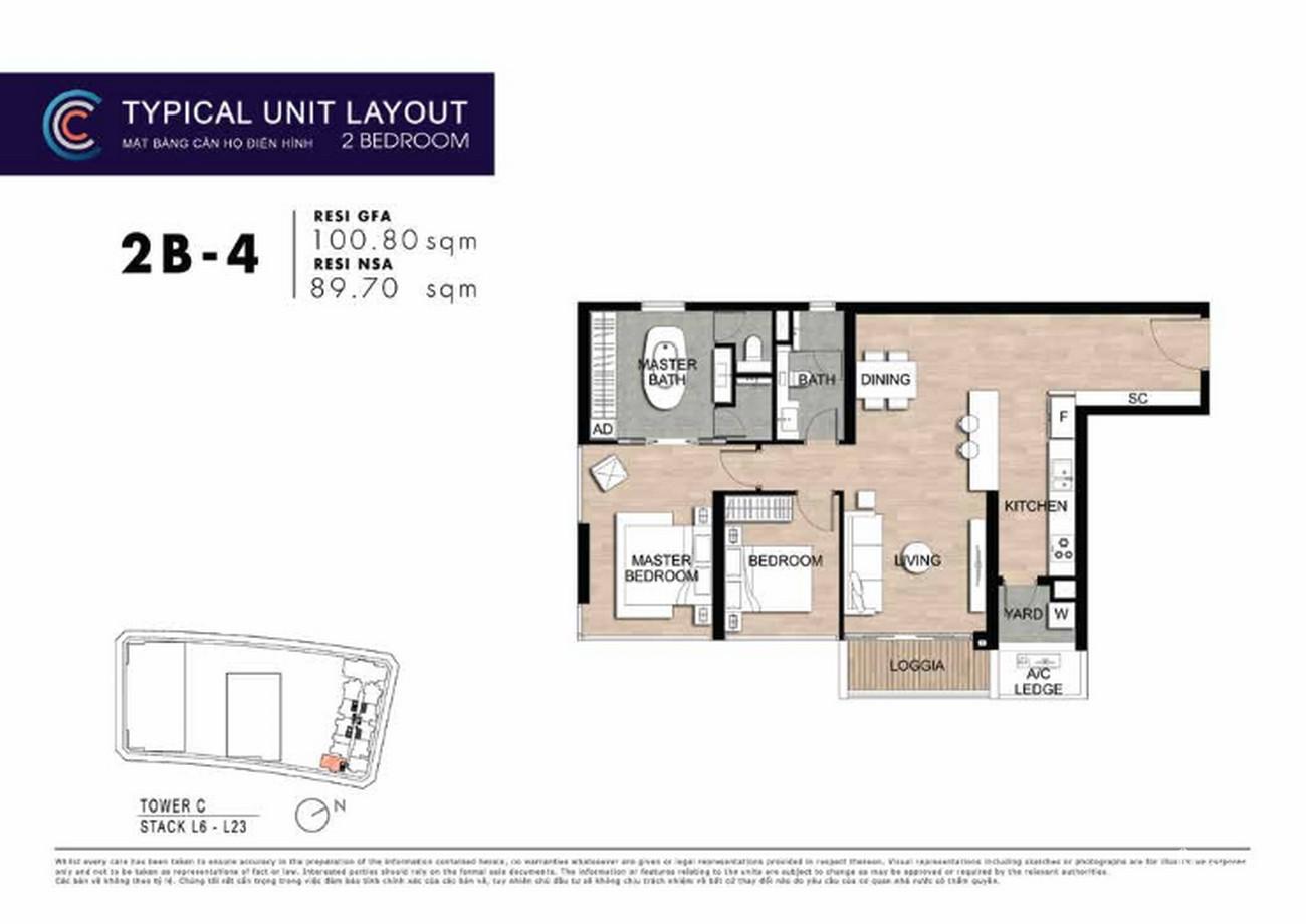 Thiết kế căn hộ 2PN 2B-4