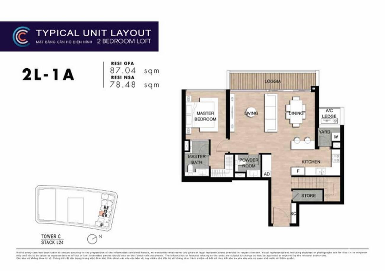 Thiết kế căn hộ 2PN 2B-6