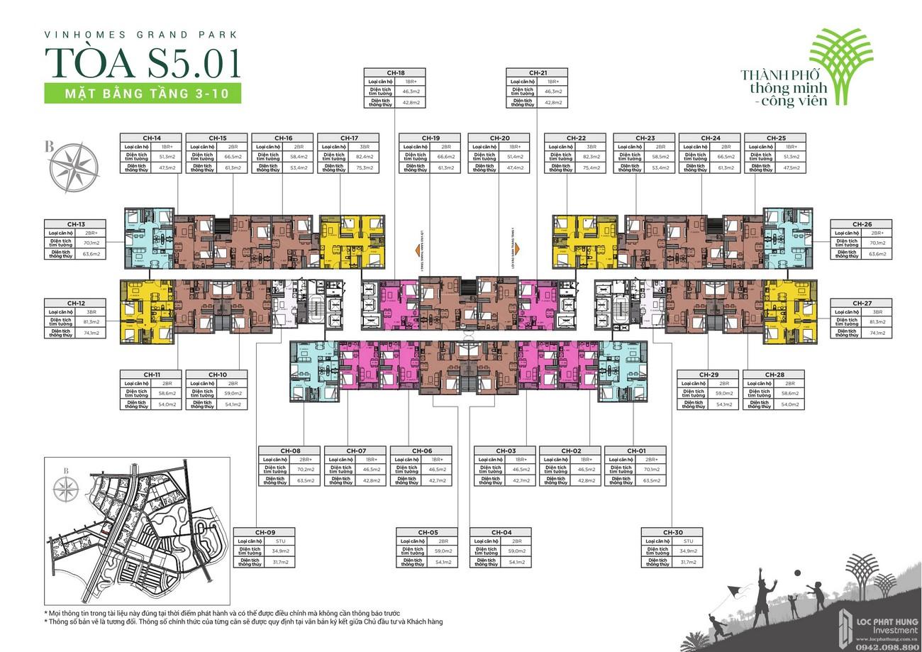 Thiết kế dự án căn hộ chung cư The Rainbow  đô thị Vinhomes Grand Park