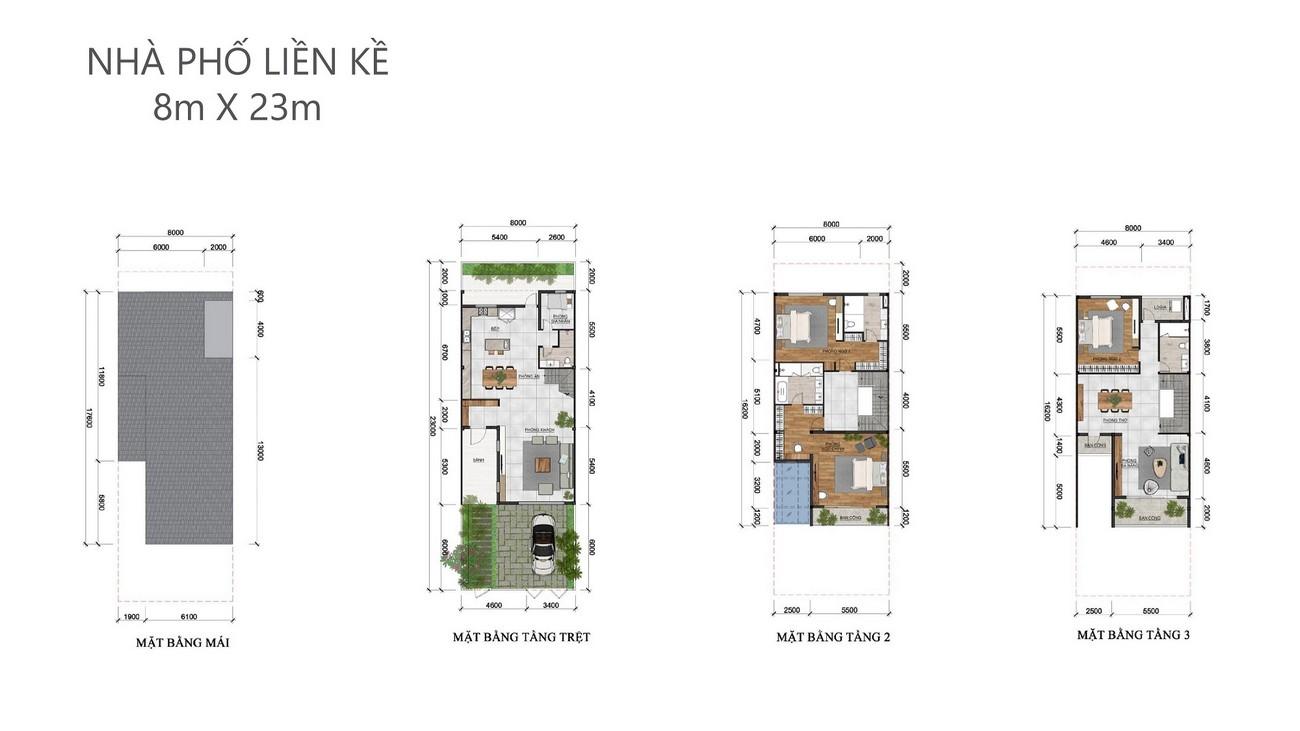 Thiết kế dự án nhà phố Palm Marina Quận 9 Đường 15A5 Long Trường chủ đầu tư Novaland