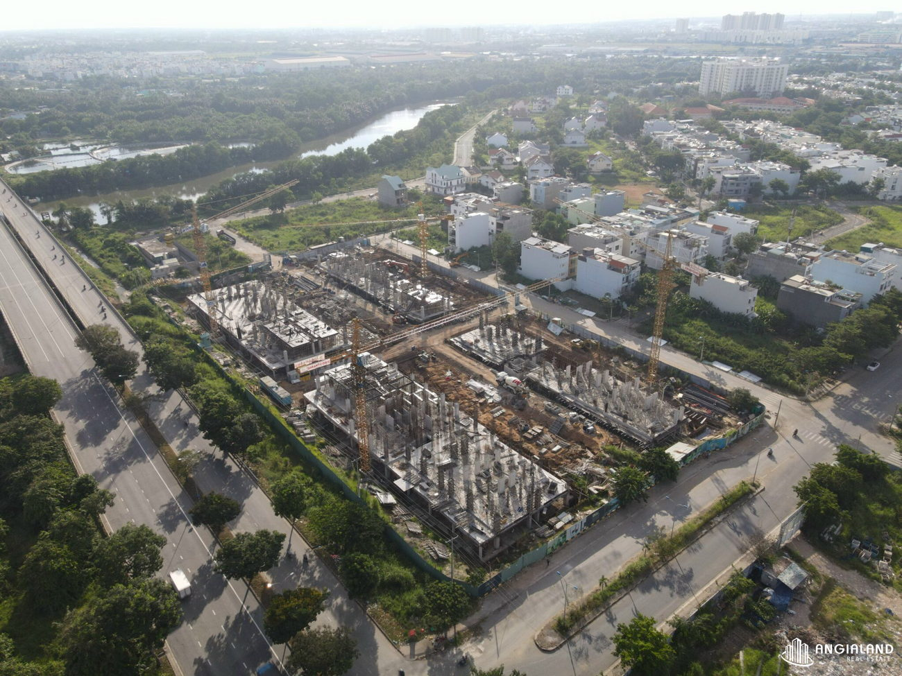 Tiến độ xây dựng Dream Home Riverside tháng 09/2021
