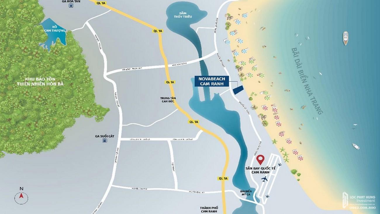 Vị trí chính xác dự án biệt thự biển Novabeach Cam Ranh nhà phát triển Tập đoàn Novaland