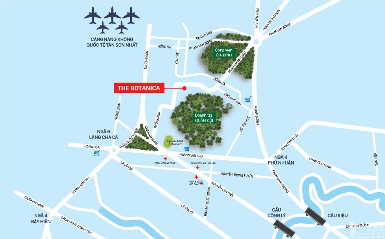 Vị trí địa chỉ dự án căn hộ chung cư The Botanica Tân Bình  Đường 104 Phổ Quang chủ đầu tư Novaland