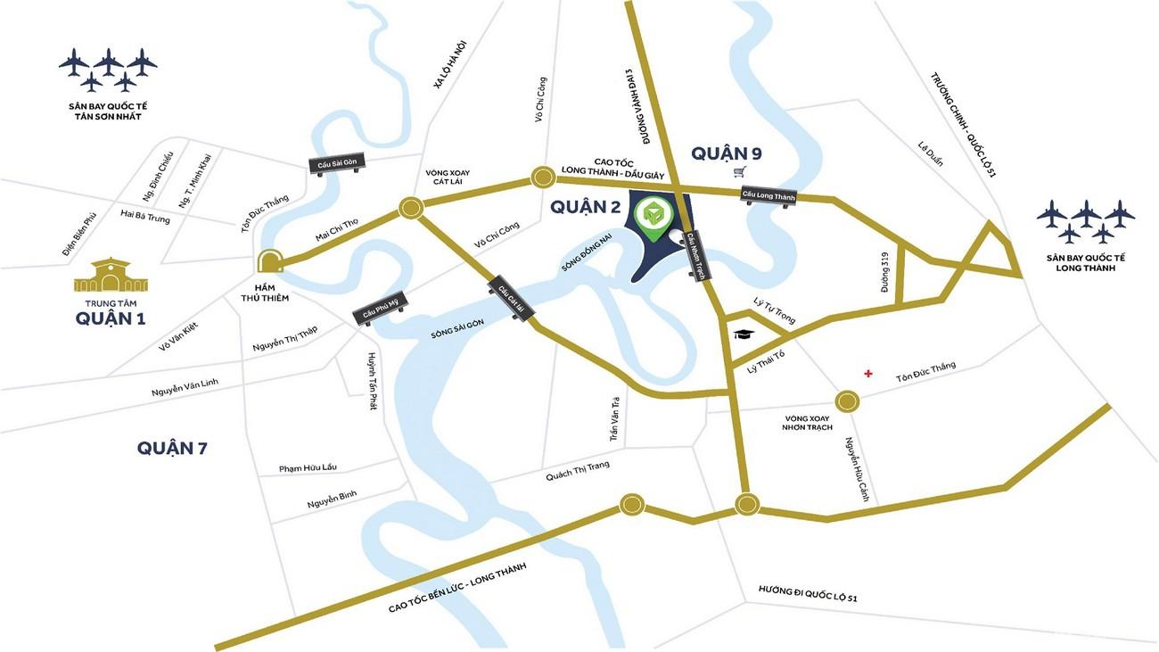 Vị trí địa chỉ dự án nhà phố Palm Marina Quận 9 Đường 15A5 Long Trường chủ đầu tư Novaland
