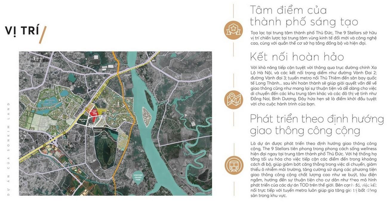 Vị trí địa chỉ dự án căn hộ chung cư The 9 Stellars Quận 9 Đường Hoàng Hữu Nam chủ đầu tư Ngân Thạnh