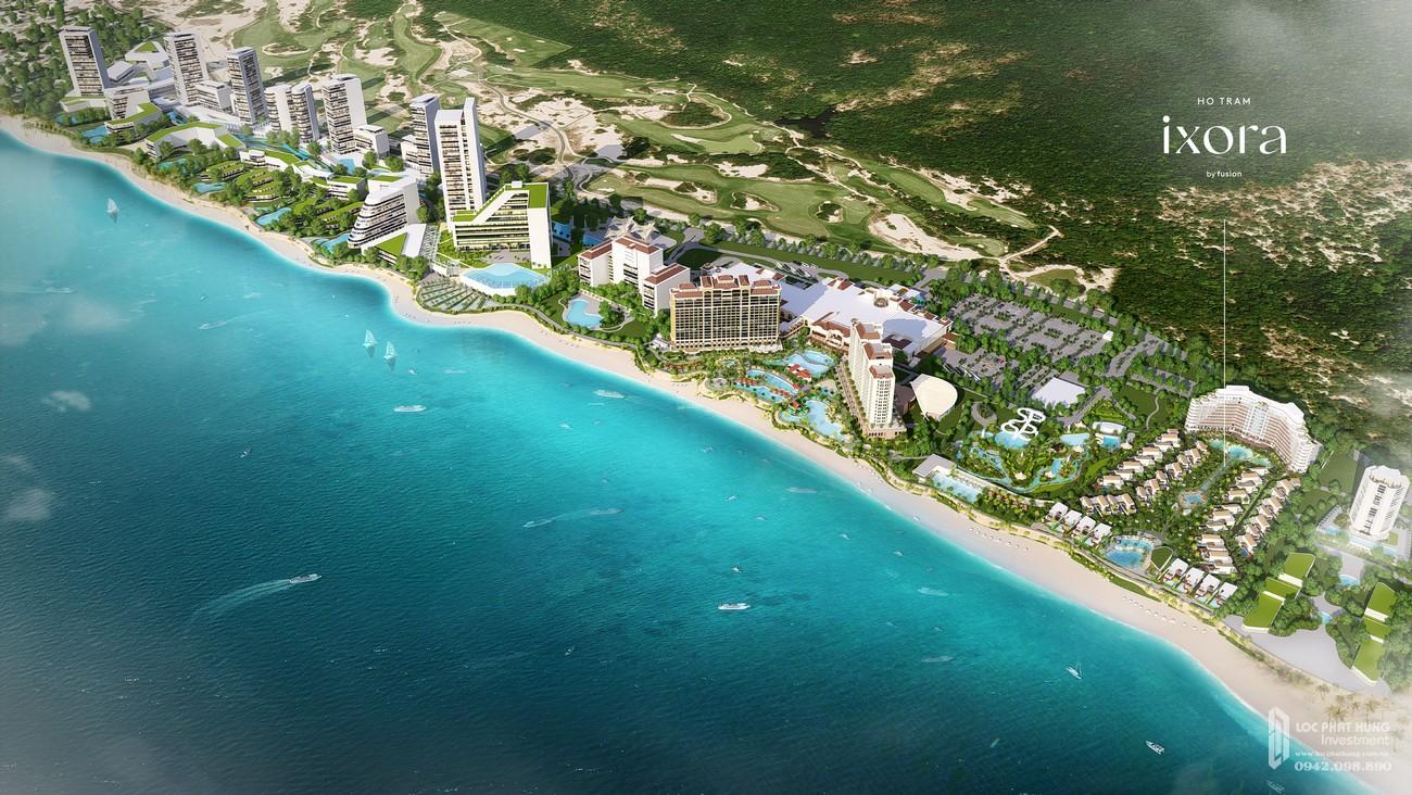 Phối cảnh tổng thể dự án vila chung cư Ixora Hồ Tràm By Fusion Xuyên Mộc Đường Phước Thuận & Bông chủ đầu tư ACDL