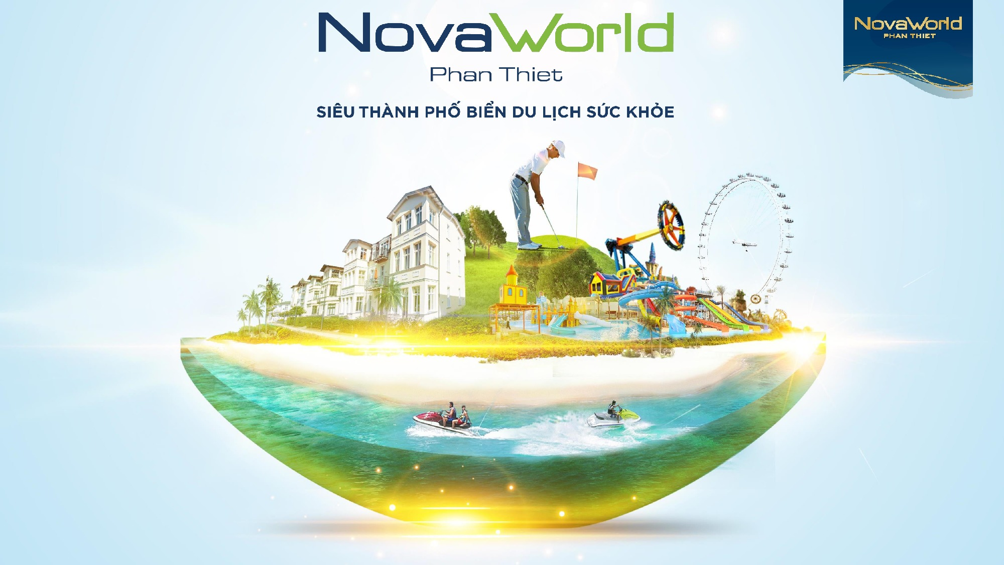 Phối cảnh tổng thể siêu dự án biển Novaworld Phan Thiết