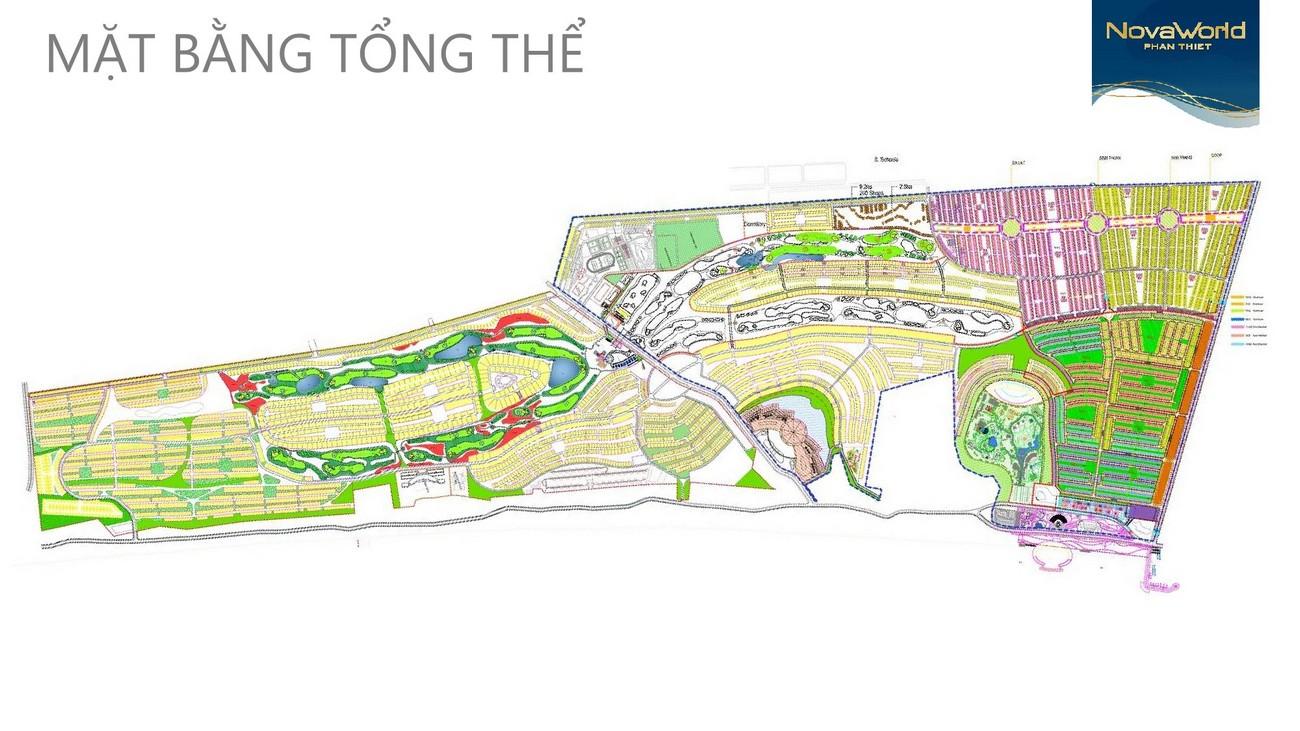 Mặt bằng tổng thể dự án Khu đô thị Novaworld Phan Thiết đường Lạc Long Quân nhà phát triển Novaland