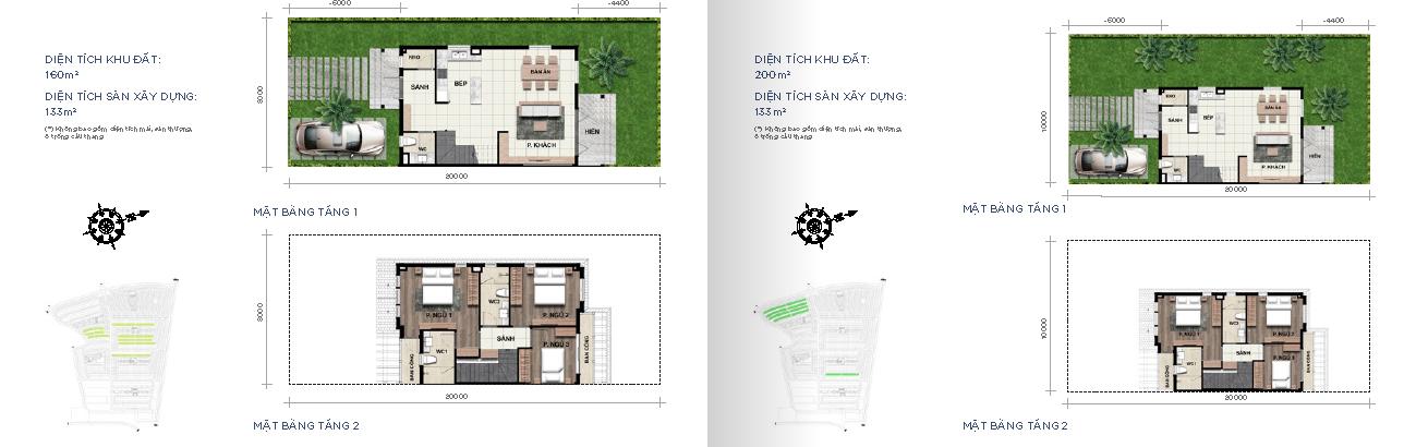 Biệt thự song lập 8x20m2 và 10x20m2 Novaworld Phan Thiết