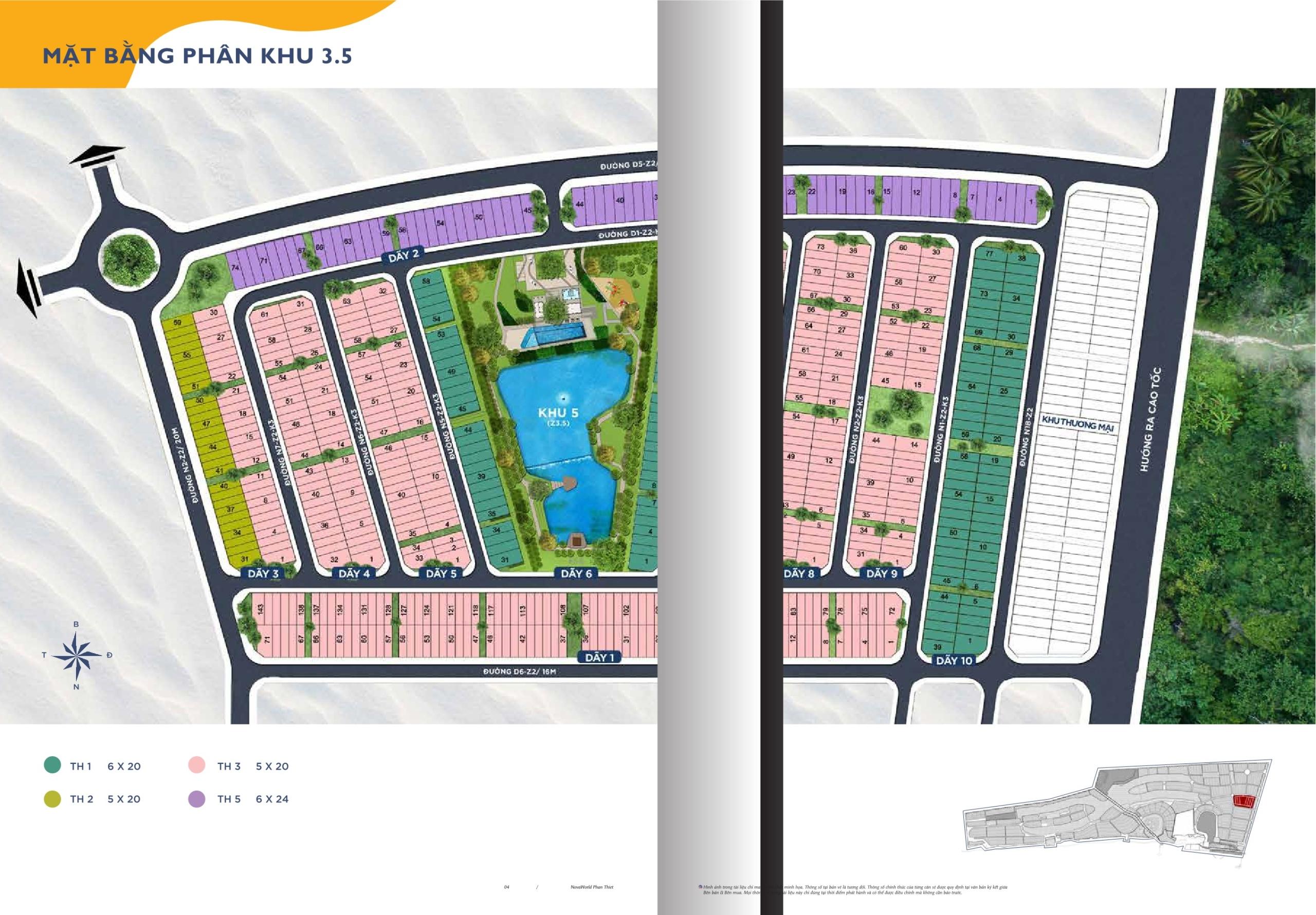 Mặt bằng phân khu dự án Novaworld Phan Thiết nhà phát triển Novaland