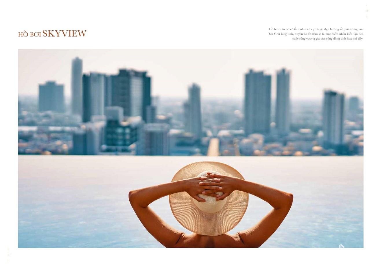 Hồ bơi Sky View - Tiện ích đẳng cấp sang trọng của dự án Grand Manhattan quận 1 nhà phát triển Novaland