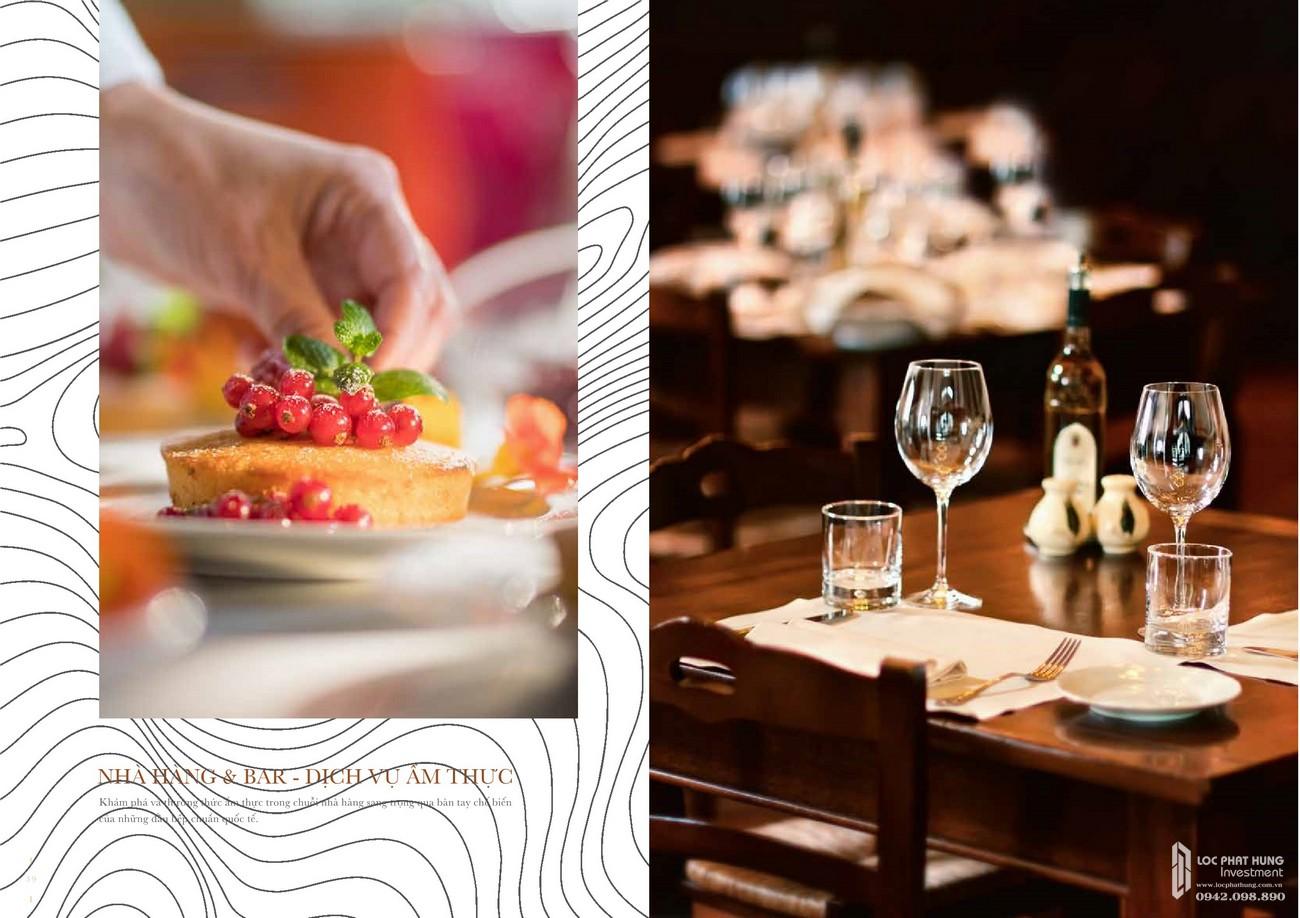 Nhà hàng, bar, dịch vụ ẩm thực sang trọng của dự án Grand Manhattan quận 1 nhà phát triển Novaland