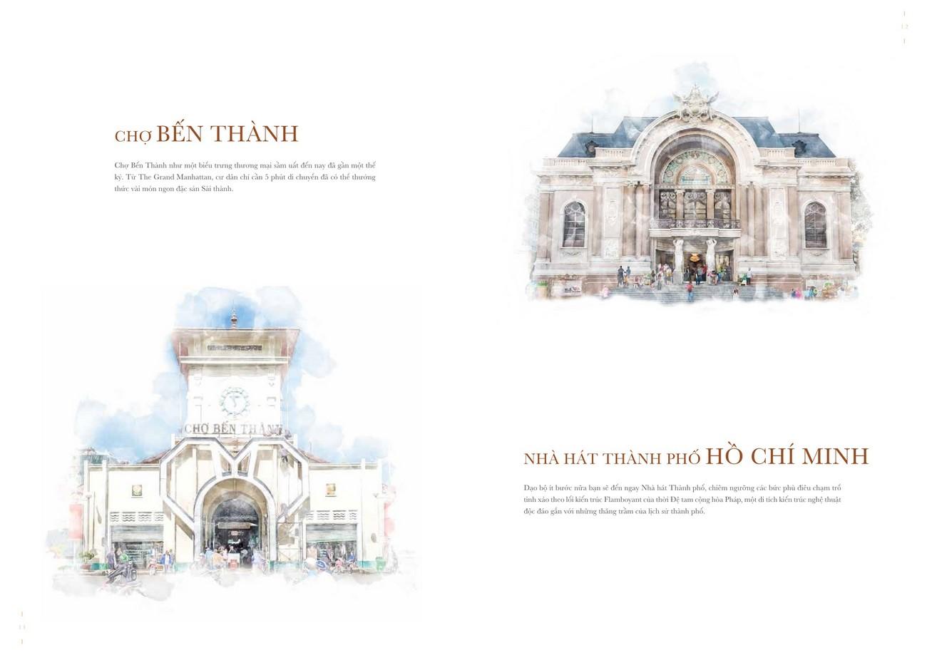 Chợ Bến Thành và Nhà hát Thành phố Hồ Chí Minh