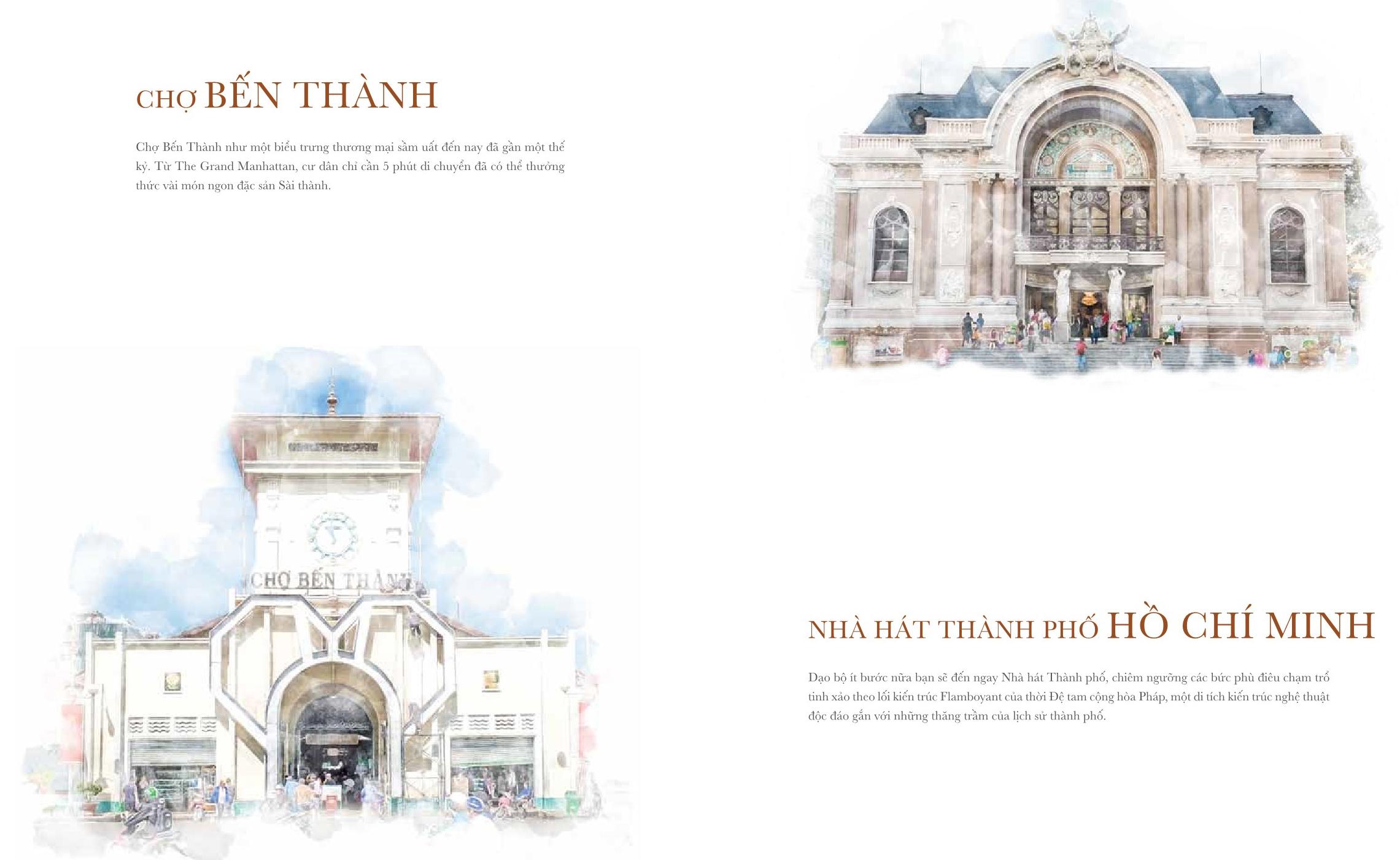 Chợ Bến Thành & Nhà hát TP. HCM