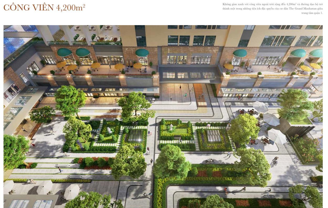 Công viên 4200 m2 không gian xanh của dự án