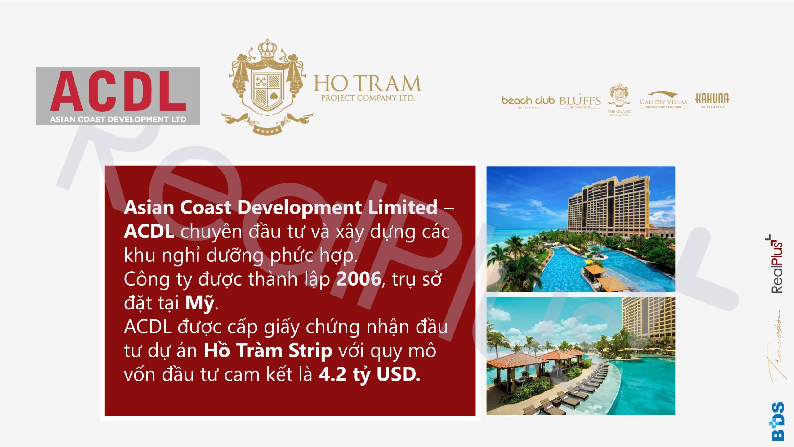 Chủ đầu tư dự án chung cư Ixora Hồ Tràm By Fusion Xuyên Mộc Đường Phước Thuận & Bông Trang chủ đầu tư ACDL