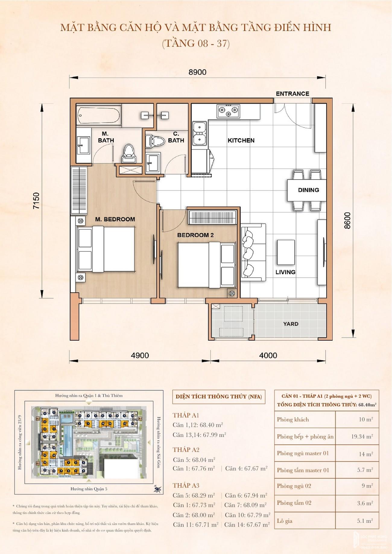 Thiết kế chi tiết dự án Grand Manhattan quận 1 nhà phát triển Novaland