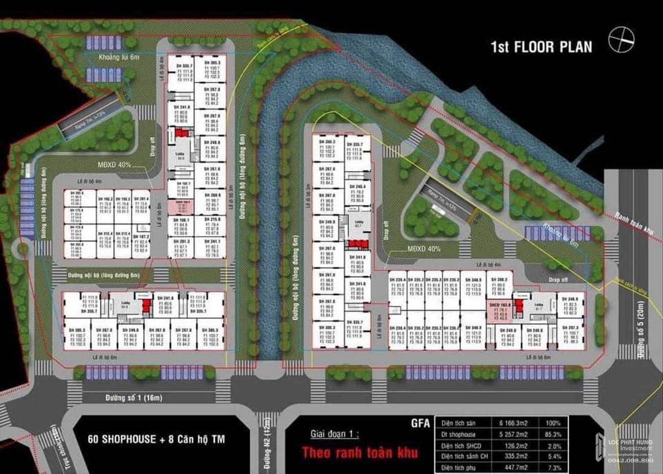 Mặt bằng dự án căn hộ chung cư Dragon Sky View Thủ Đức Đường Tô Ngọc Vân chủ đầu tư Hưng Phú Investment
