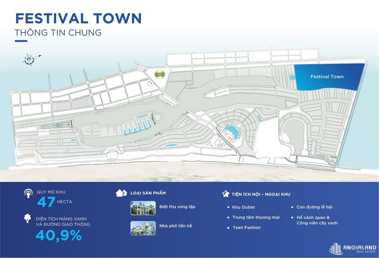 Mặt bằng tổng thể phân khu  Festival Town