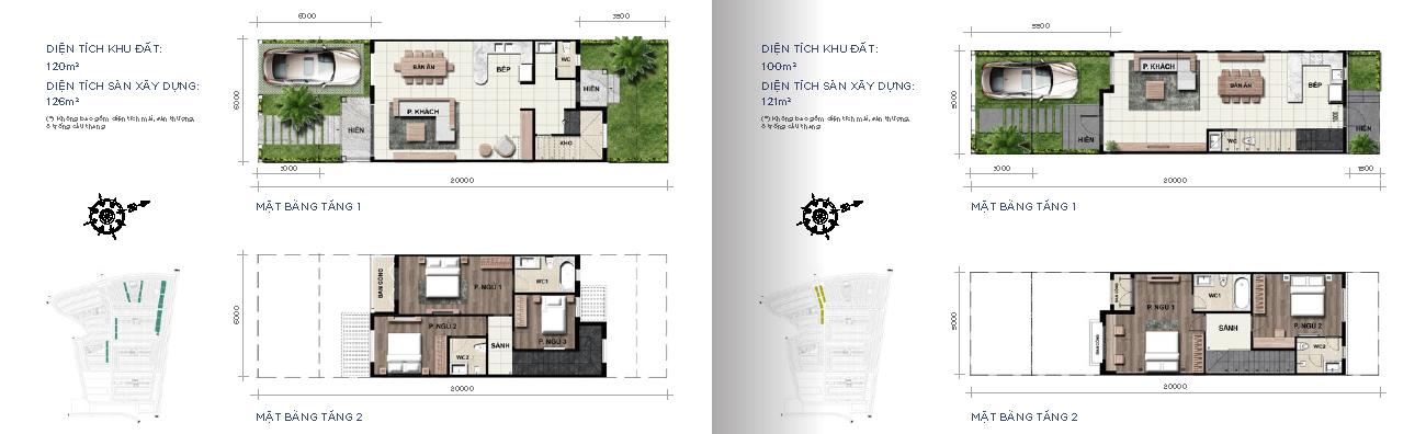 Nhà phố 5x20 m2 & 6x20 m2 Novaworld Phan Thiết