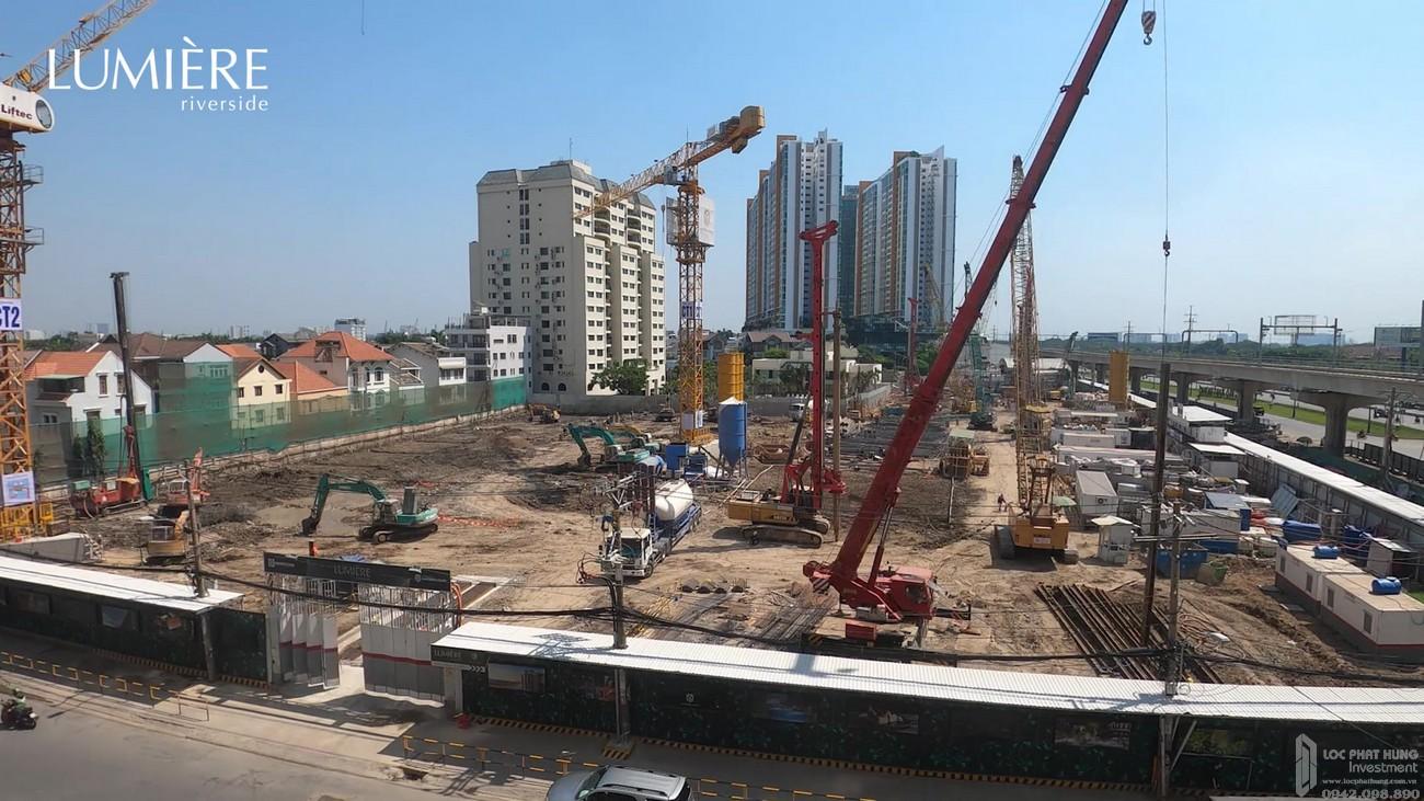 Tiến độ dự án căn hộ chung cư Masteri Lumière Riverside Quận 2 Đường Xa Lộ Hà Nội chủ đầu tư Masterise Homes