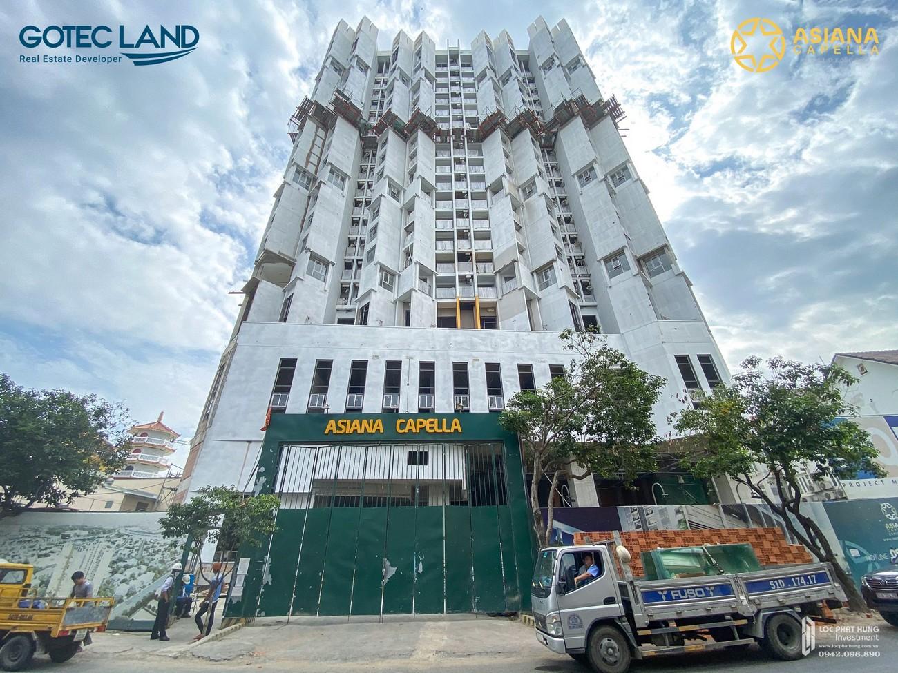 Tiến độ dự án căn hộ chung cư Asiana Capella Quận 6 Đường 184 Trần Văn Kiểu chủ đầu tư Gotec Land