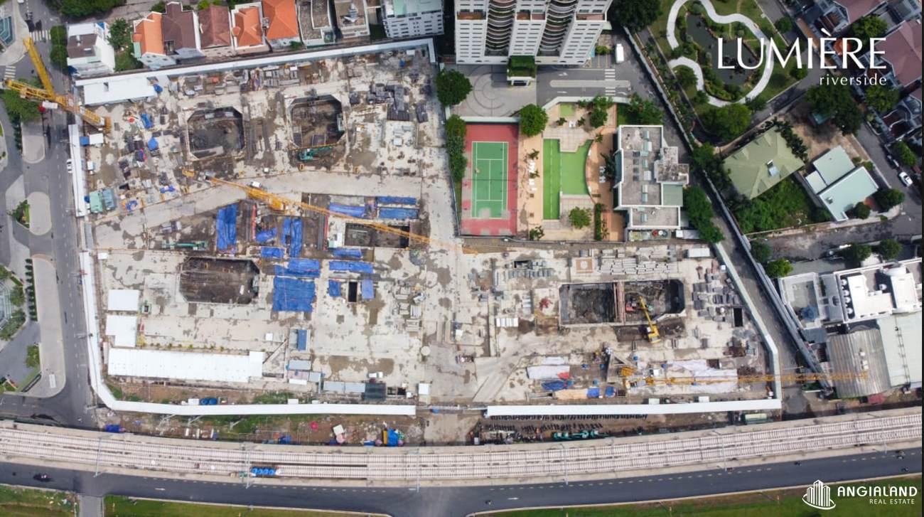 Tiến độ xây dựng tháng 08/2021 Masterise Lumiere Riverside