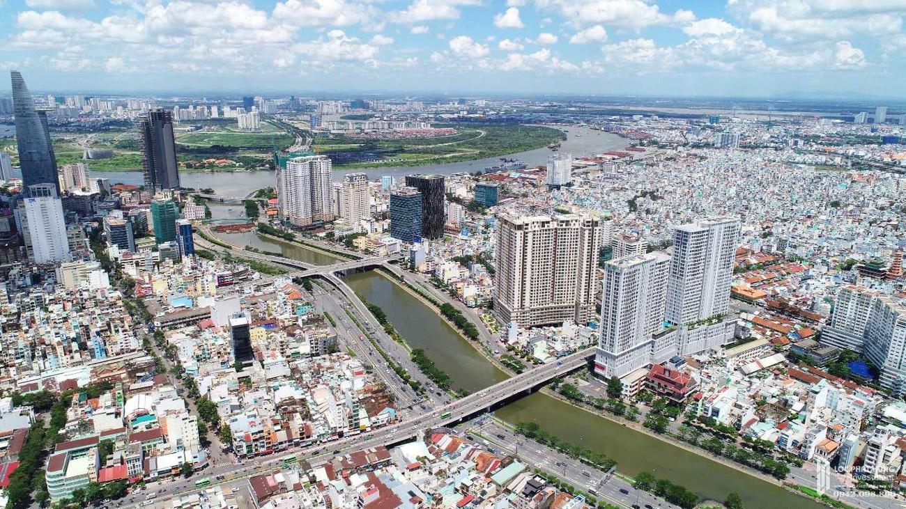 View nhìn hướng Đông -Quận 4 Sông Sài Gòn