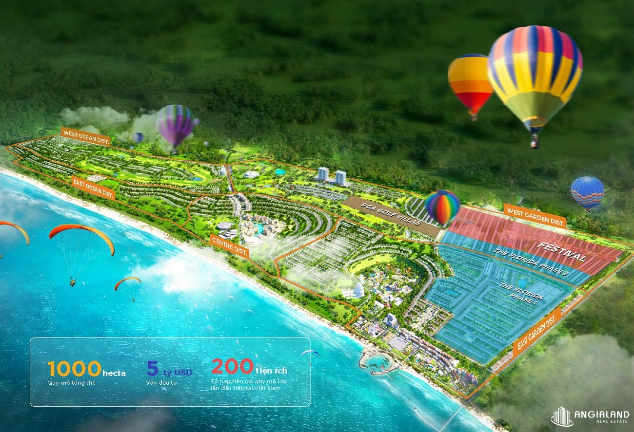 View tổng thể dự án Novaworld Phan Thiết