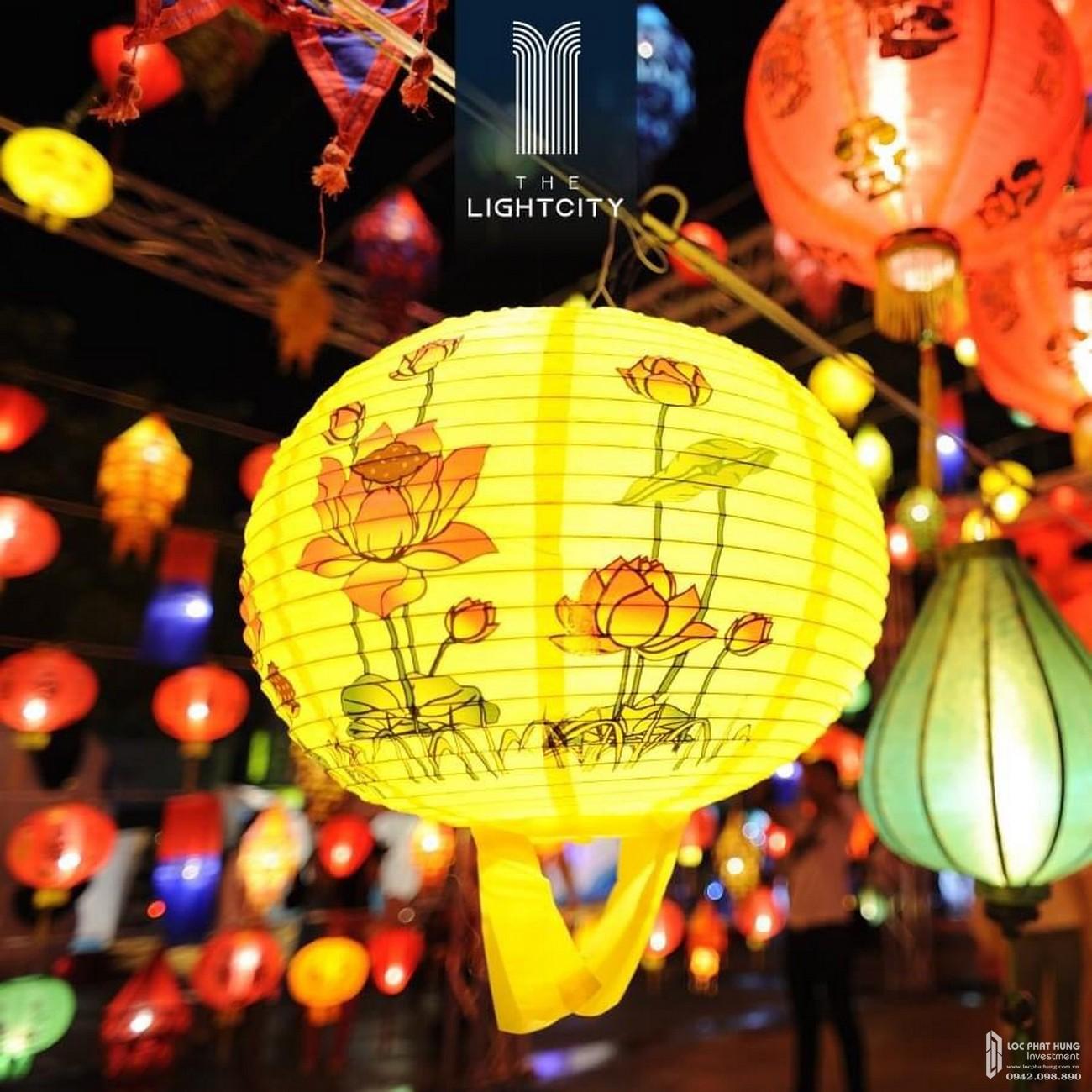 Phố đèn lồng dự án The Light City Đồng Xoài chủ đầu tư Thành Phương