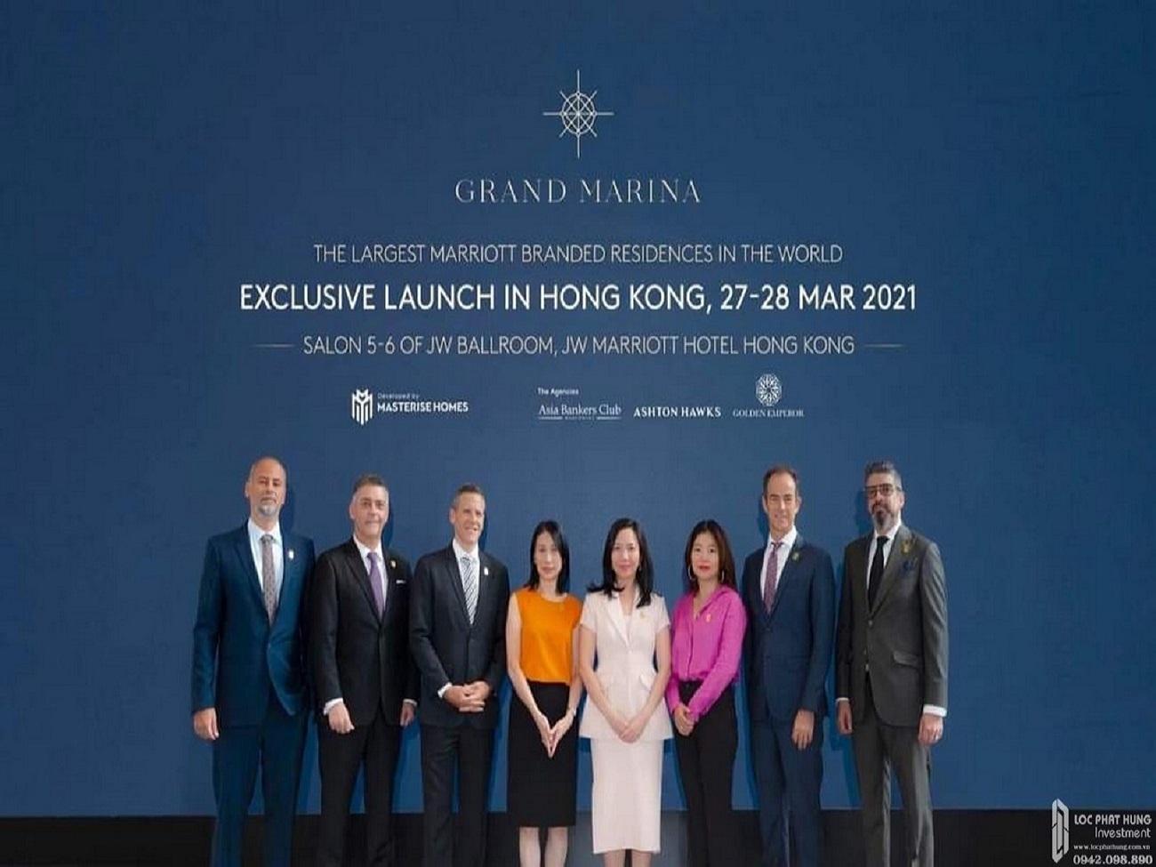 HỌP BÁO RA MẮT ĐỘC QUYỀN DỰ ÁN GRAND MARINA SAIGON TẠI HONGKONG