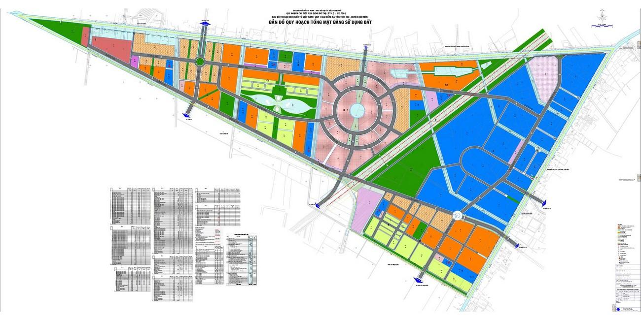 Mặt bằng dự án căn hộ chung cư Vinhomes Hóc Môn   chủ đầu tư Vingroup