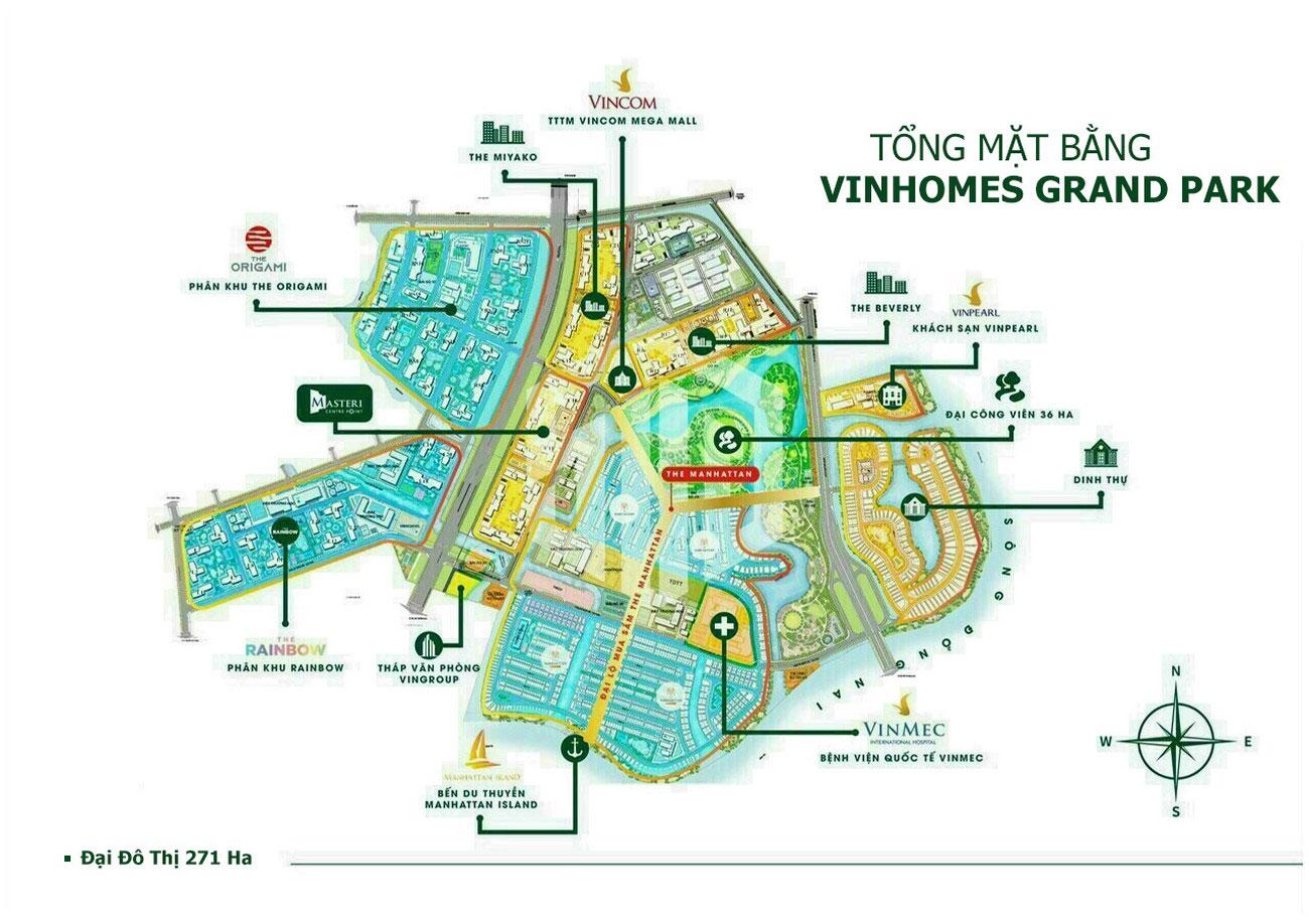 Mặt bằng dự án căn hộ chung cư The Beverly Quận 9 chủ đầu tư Vingroup