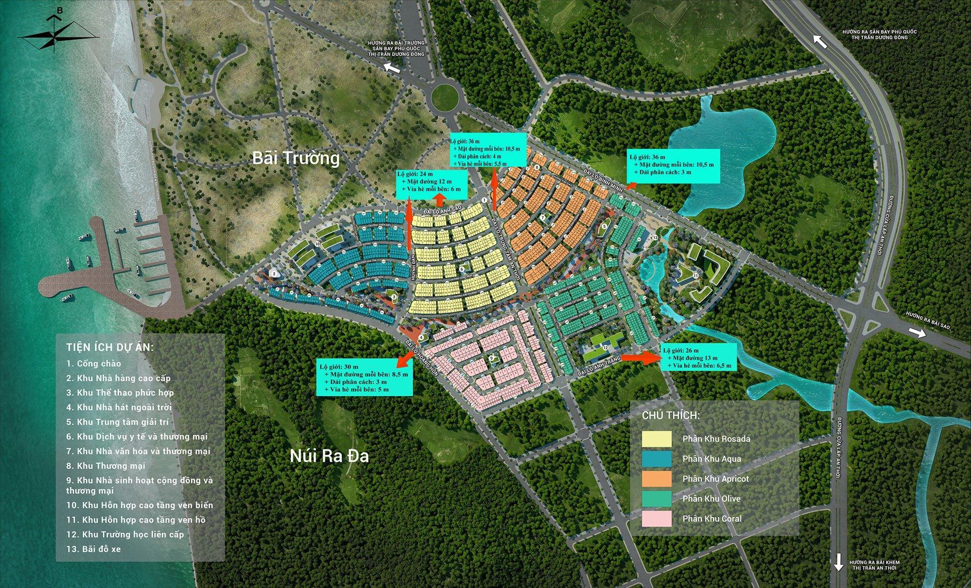 Mặt bằng tổng thể toàn khu Meyhomes Capital Phú Quốc