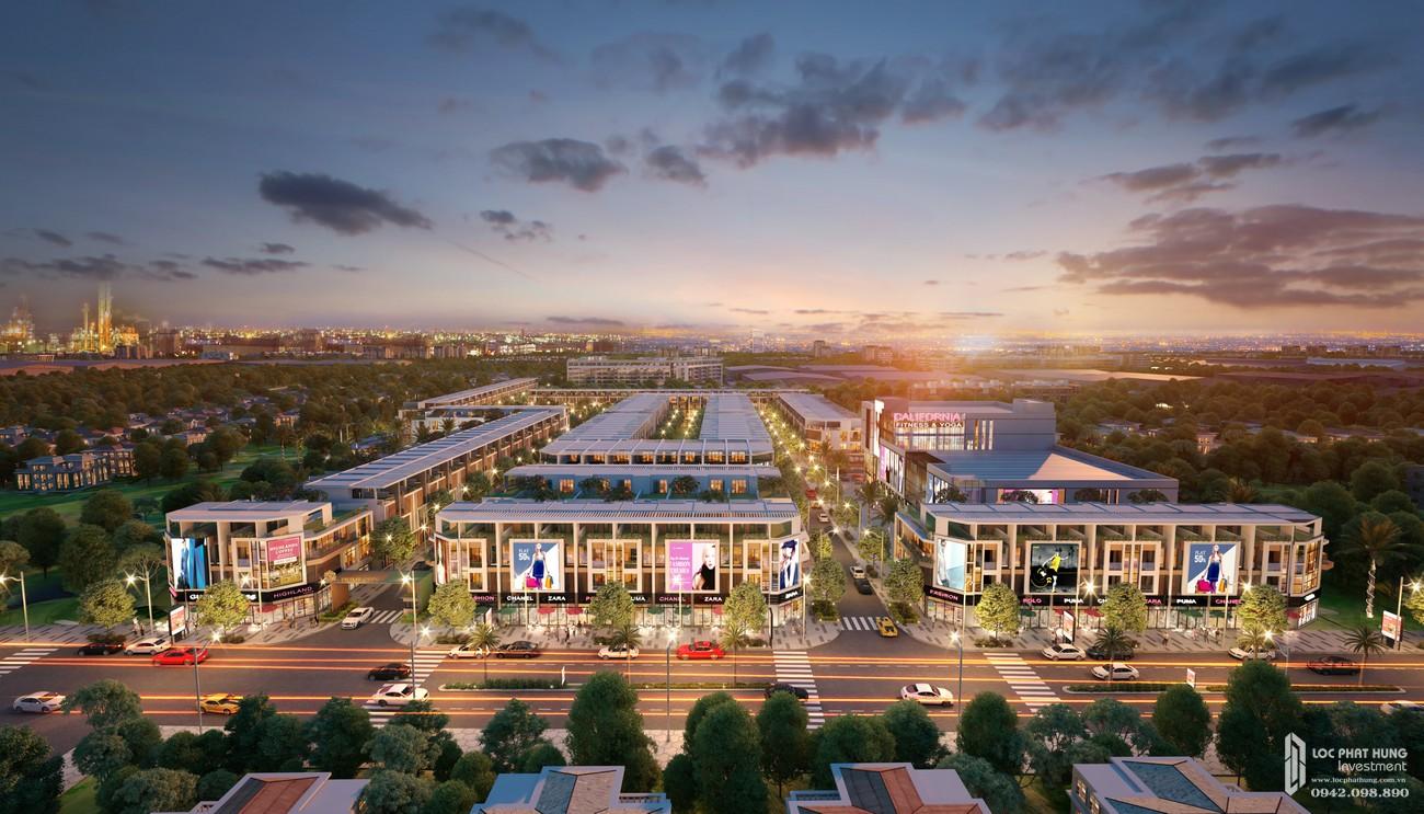Phối cảnh tổng thể dự án nhà phố Prime City Bình Phước