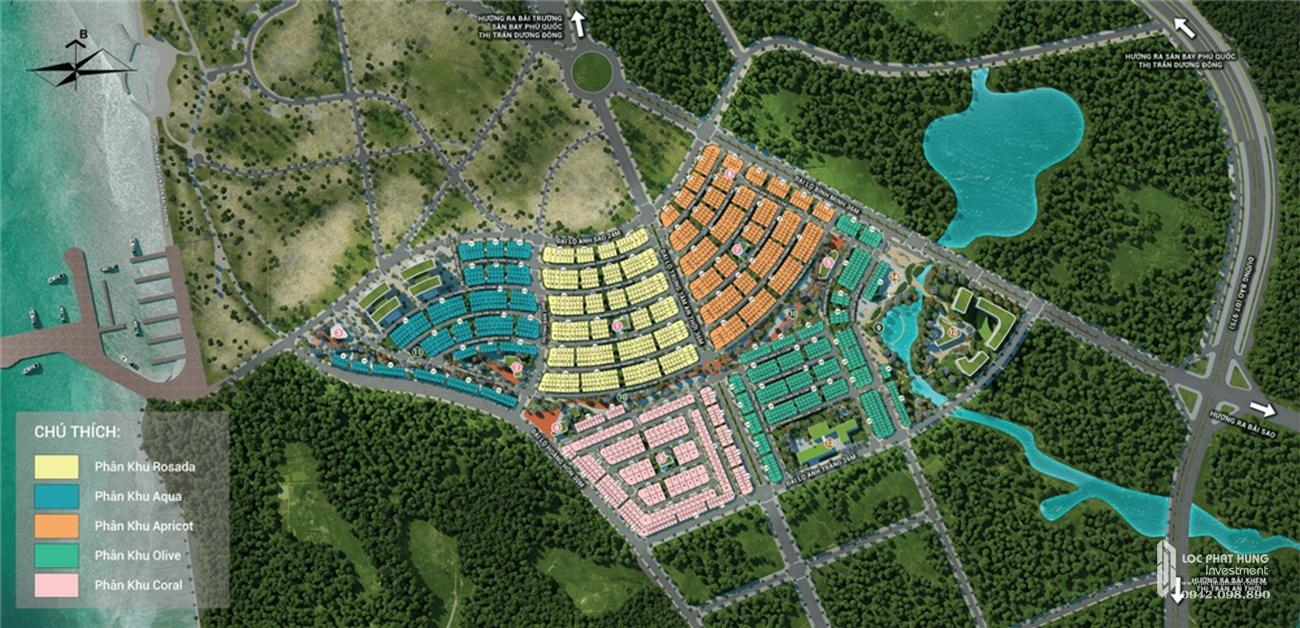 Mặt bằng chi tiết nhà phốMeyhomes Capital Phú Quốc
