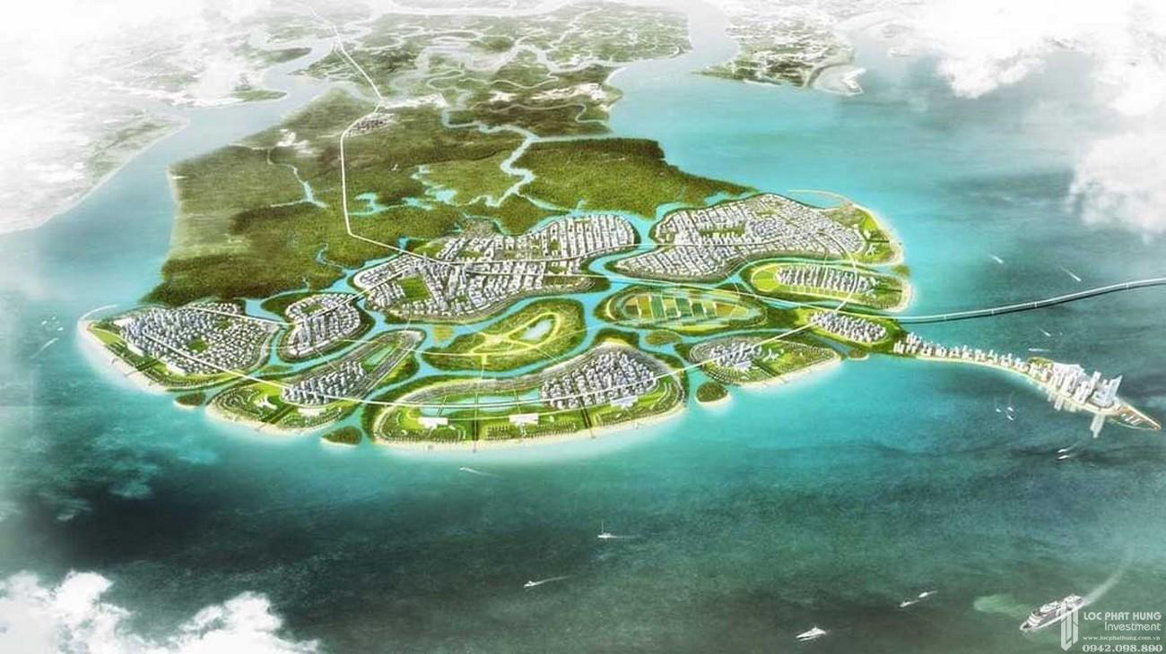 Phối cảnh tổng thể dự án căan hộ chung cư Vinhomes Cần Giờ chủ đầu tư VinGroup