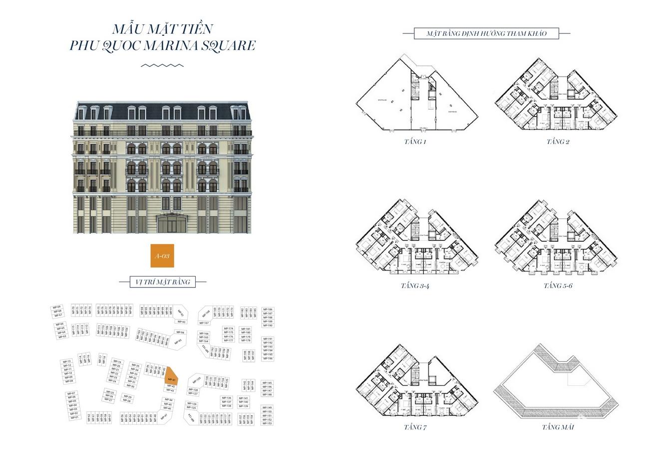 Mặt bằng dự án nhà phố Marina Square huyện Phú Quốc Đường Bãi Trường, xã Dương Tơ chủ đầu tư BIM Group