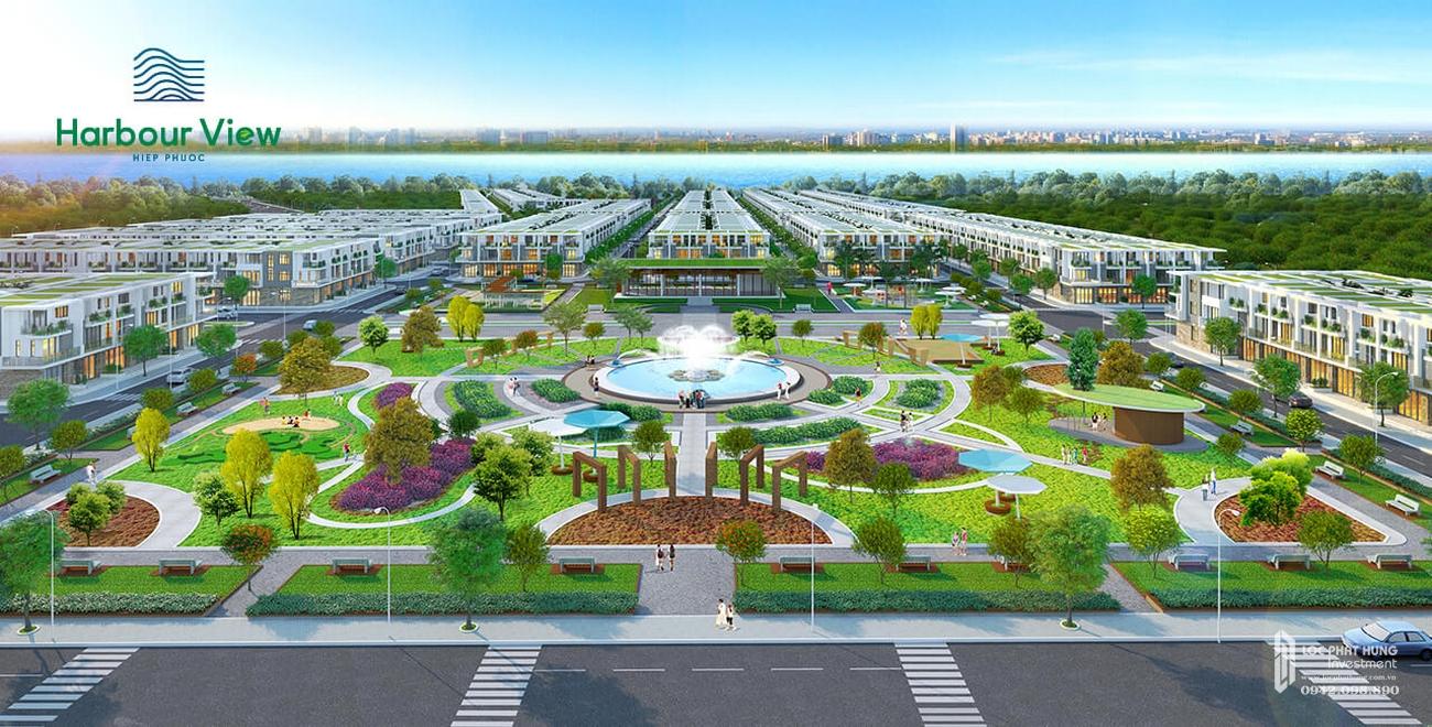 Phối cảnh tổng thể dự án đất nền Hiệp Phước Harbour View Can Giuoc Đường Nguyễn Văn Tạo chủ đầu tư Thuận Thành
