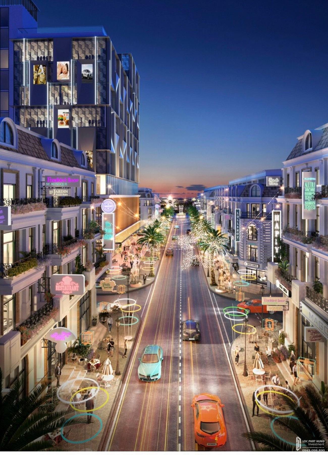 Đại lộ ánh sáng - đường đi bộ dự án The Light City Đồng Xoài