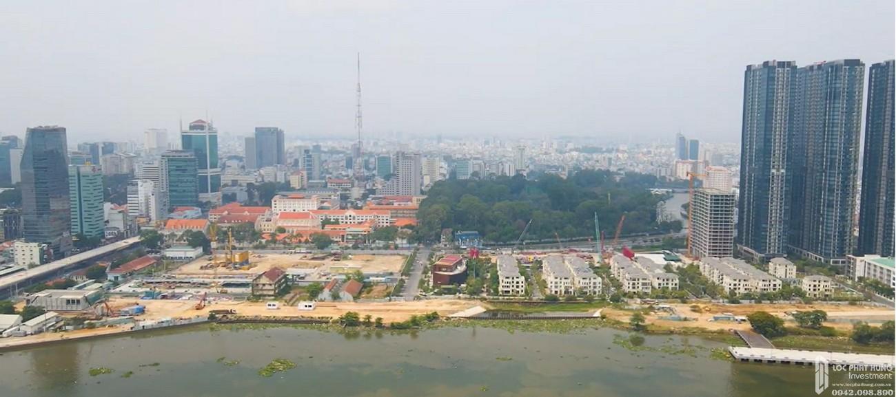 Tiến độ Grand Marina Saigon Quận 1  chủ đầu tư Masterise Homes nhìn từ phía ngoài sông vào