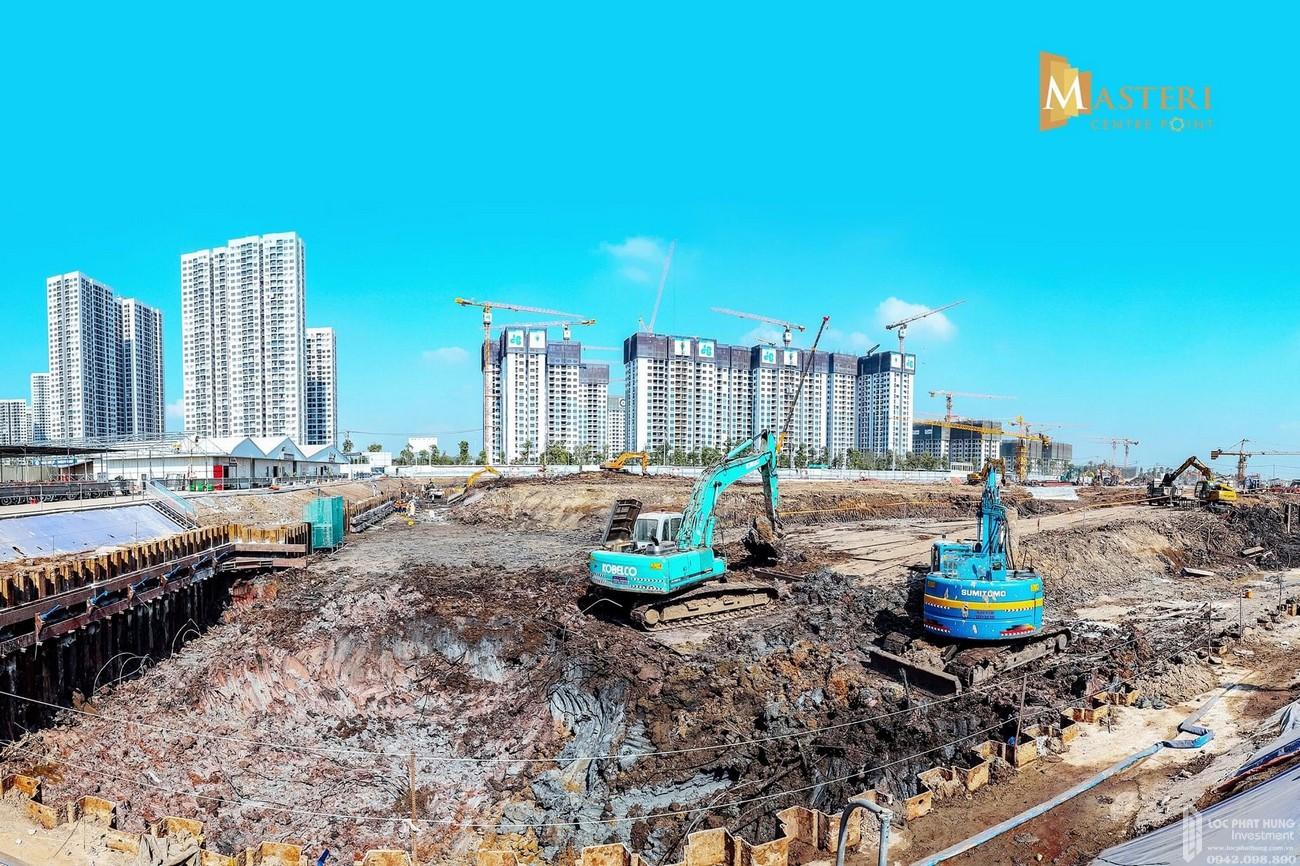 Tiến độ dự án căn hộ chung cư Masteri Centre Point Quận 9 cuối tháng 3/2021