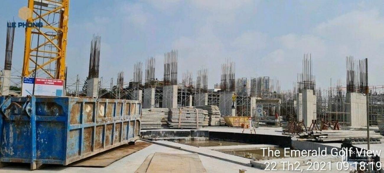 Tiến độ dự án căn hộ chung cư The Emerald Golf View Thuận An Đường Quốc lộ 13 chủ đầu tư Lê Phong