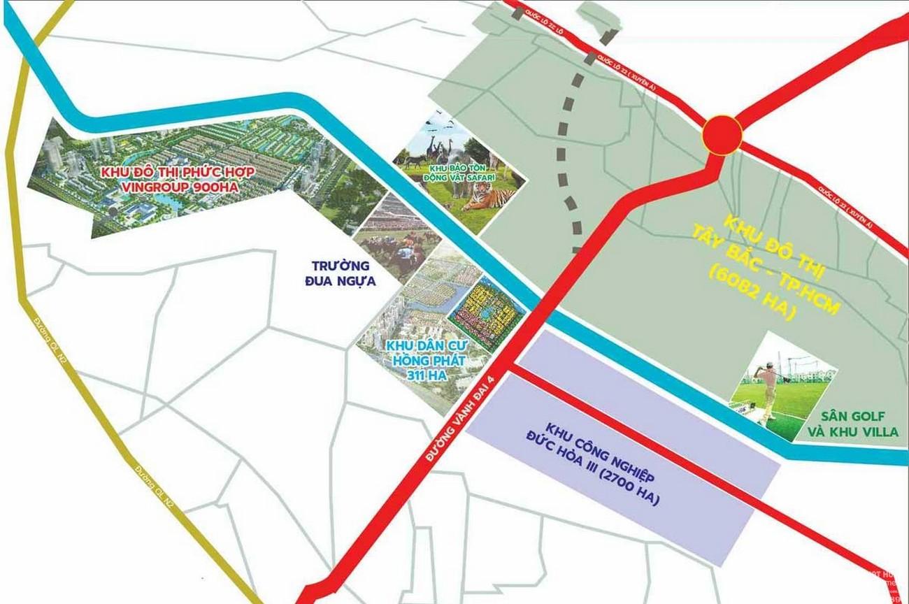 Vị trí địa chỉ dự án căn hộ chung cư Vinhomes Đức Hòa  chủ đầu tư Vingroup