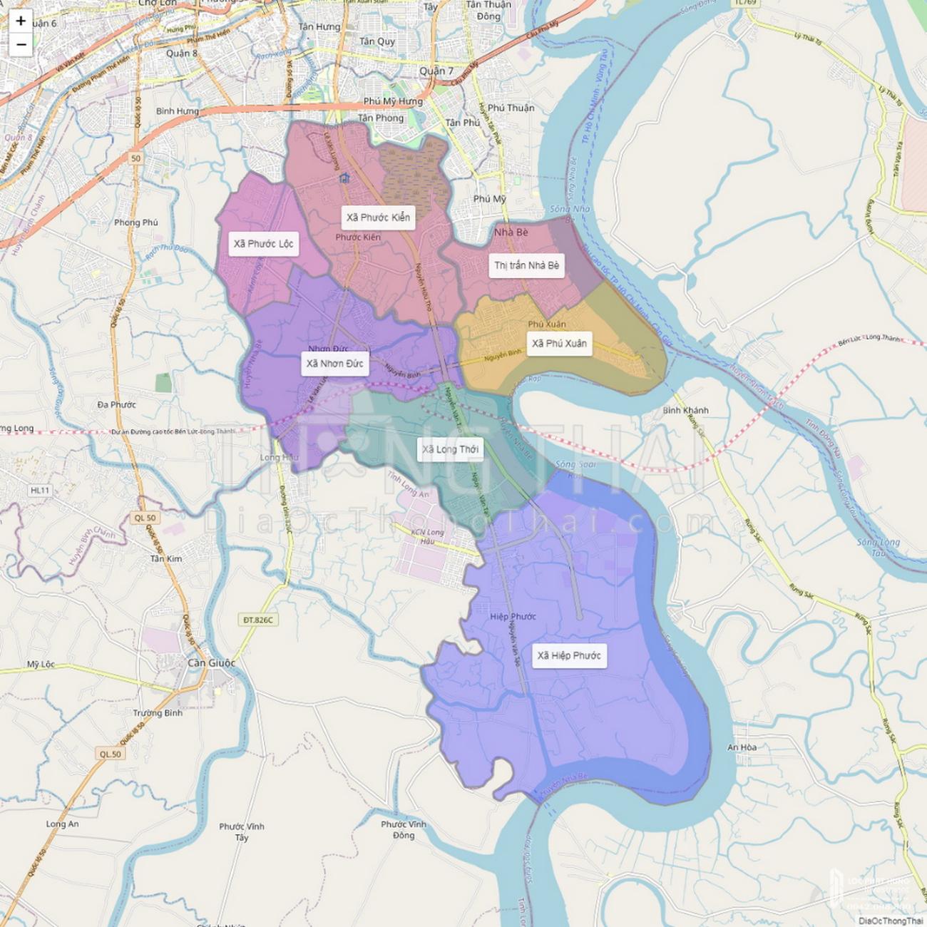 Bản đồ Huyện Nhà Bè