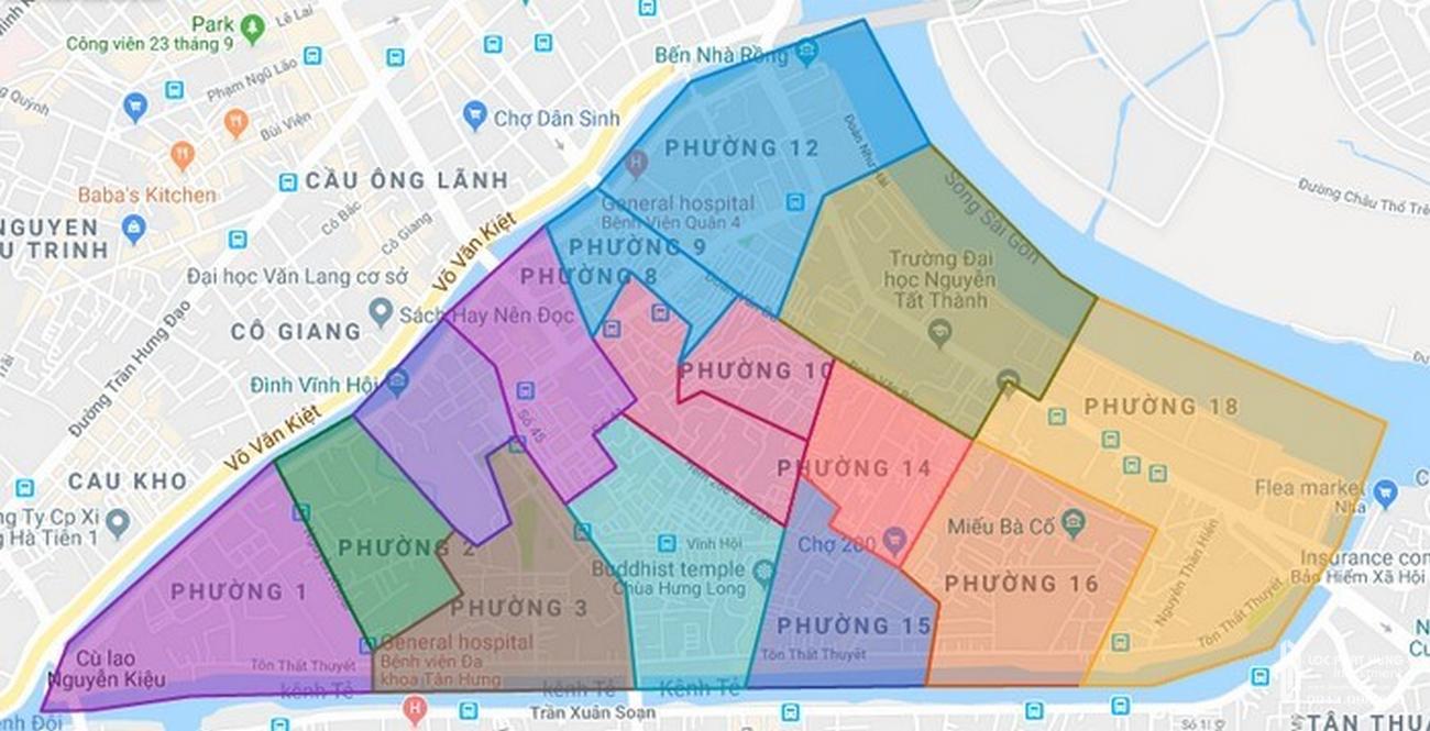 Bản đồ quận 4