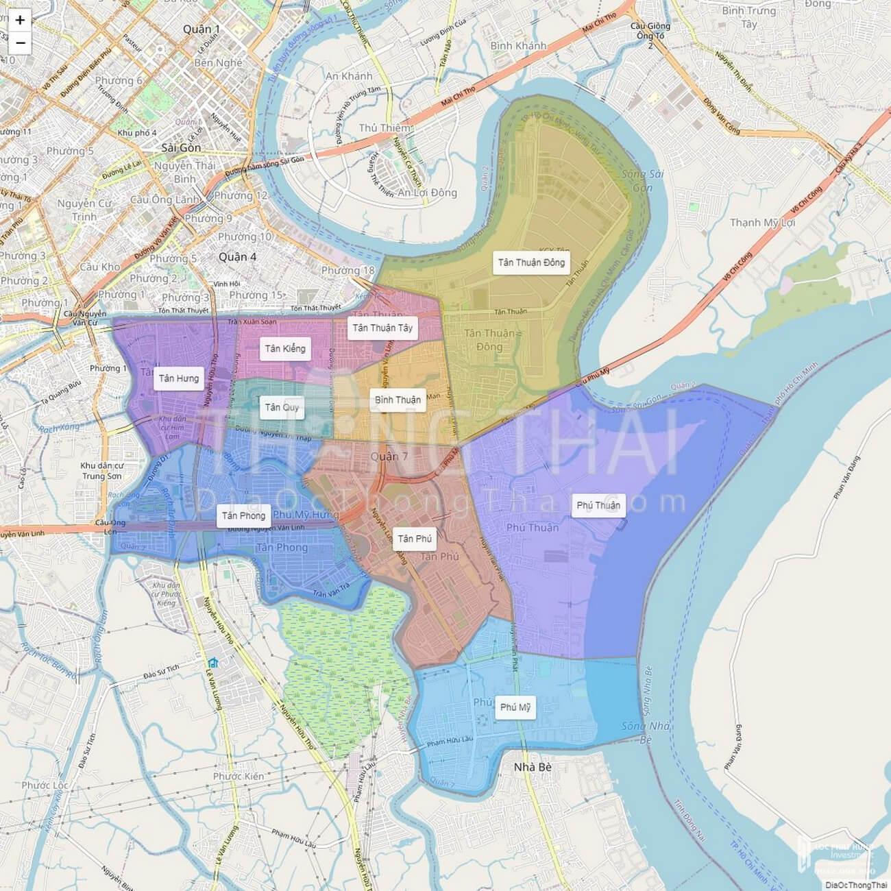 Bản đồ quận 7