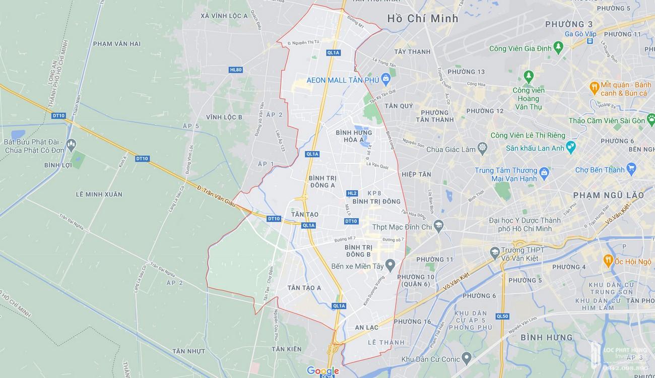 Bản đồ quận Bình Tân