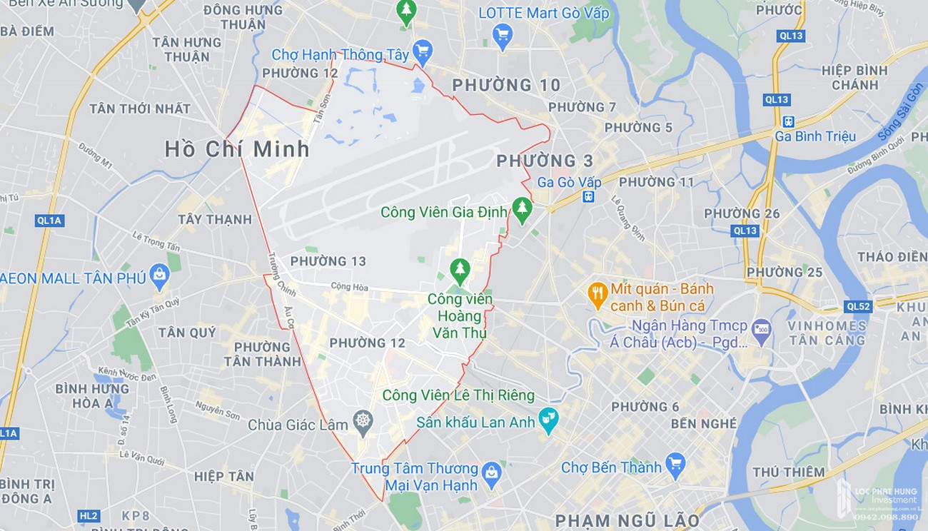 Bản đồ quận Tân Bình